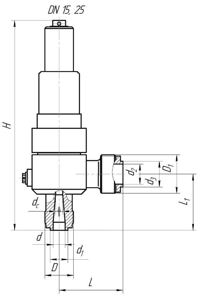 Клапан предохранительный ЦКБ П50023