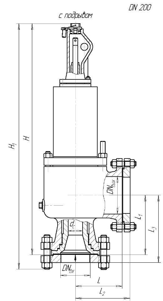 Клапан предохранительный ЦКБ Р55228