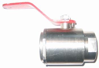 Кран шаровой пробка-шар и шпиндель из стали 12Х18Н10Т, класс герметичности А